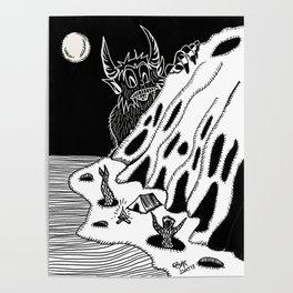Moon bath/Baño de Luna Poster