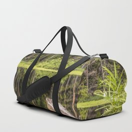 Quiet Forest lake Duffle Bag