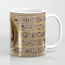 Pyrographed Golden Nefertiti on wood Coffee Mug