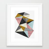 mineral Framed Art Prints featuring Mineral by FLATOWL