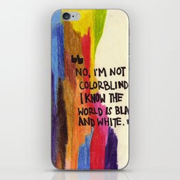 I'm not colourblind iPhone Skin