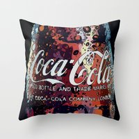 coca cola Throw Pillows featuring The Real.... by LesImagesdeJon
