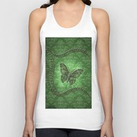 decorative Tank Tops featuring Decorative butterfly by nicky2342