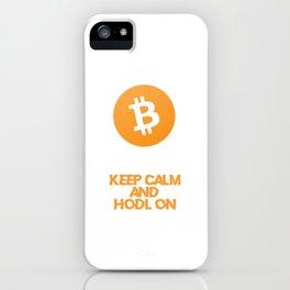 Bitcoin HODL Design iPhone Case