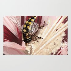 Wasp on flower 7 Rug