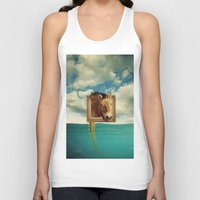 sea horse Tank Tops featuring Sea Horse by Ross Sinclair