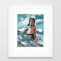 gym Framed Art Prints featuring Gym Face by Ben Gifaldi