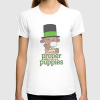 puppies T-shirts featuring Proper Puppies by Jillian Story (TalaSeba)