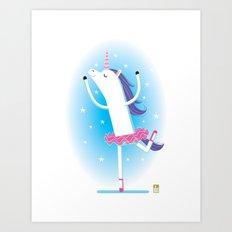 Unicorn Ballerina Art Print