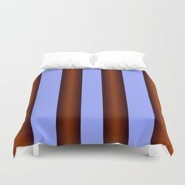 Bright Blue Brown Stripes Background Duvet Cover