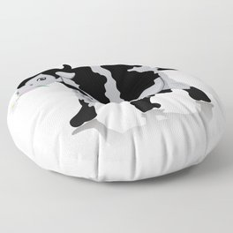 Cow chewing flower Floor Pillow
