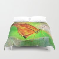 butterfly Duvet Covers featuring Butterfly by haroulita