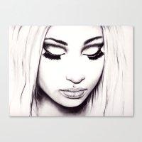 nicki Canvas Prints featuring  Nicki  by Bella Harris