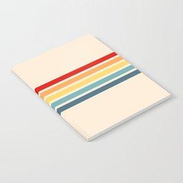 Takaakira - Classic Rainbow Retro Stripes Notebook