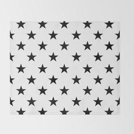 Stars (Black/White) Throw Blanket