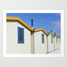 Beach houses Wijk aan Zee Art Print