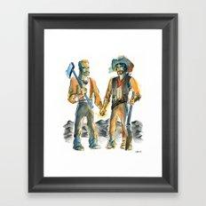 Homestead Husbands Framed Art Print
