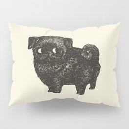 Black Pug Pillow Sham