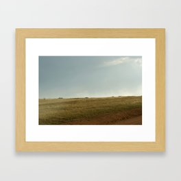 GRADATION OF THE FIELD Framed Art Print