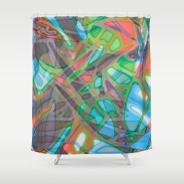 Colorful Abstract Stained Glass G299 Shower Curtain