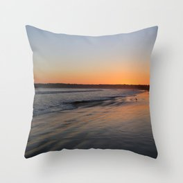 Coronado Island California Beach at dusk Throw Pillow