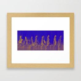 Walking women Framed Art Print