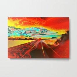 Railroad to the world. Metal Print