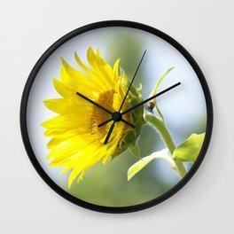 Ladybug and it's Sunflower Wall Clock