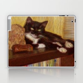 Little Black Rainbow Cat Laptop & iPad Skin