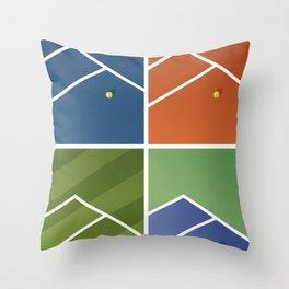Tennis Courts Throw Pillow