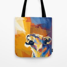 In the Sunlight - Lion portrait Tote Bag