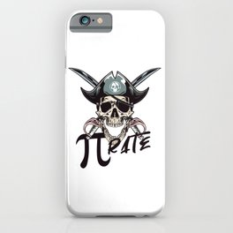 Pirate Funny Math Pun Pi Day Gift Math Science Lover Pi day iPhone Case