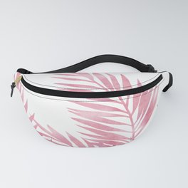 Palm Leaves Pink Fanny Pack