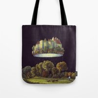 castle in the sky Tote Bags featuring Castle by Matthias Leutwyler