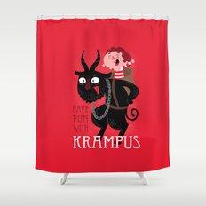 Have fun with Krampus Shower Curtain