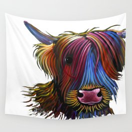 Scottish Highland Cow ' PoDGER ' by Shirley MacArthur Wall Tapestry