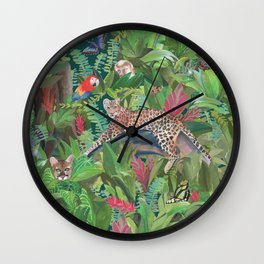Into the Wild Emerald Forest Wall Clock