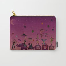 colorful circus carnival traveling in one row at night Carry-All Pouch