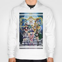 sailor moon Hoodies featuring SAILOR MOON  by CARLOSGZZ
