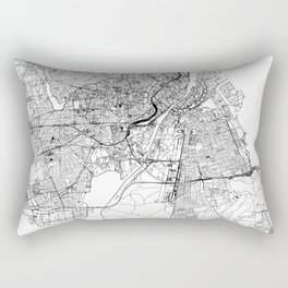 Copenhagen White Map Rectangular Pillow