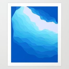 Icy Abyss Art Print