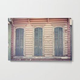 Three Shutters - New Orleans French Quarter Metal Print