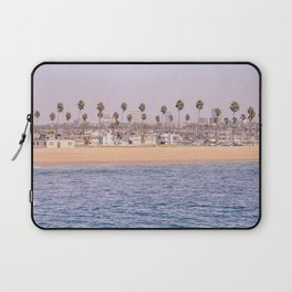 Vintage Newport Beach Print {2 of 4} | Photography Ocean Palm Trees Magenta Tropical Summer Sky Laptop Sleeve