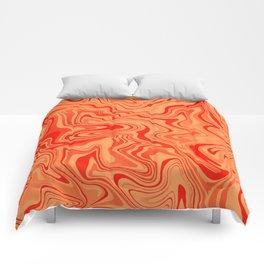 Magma Liquid Agate Comforters