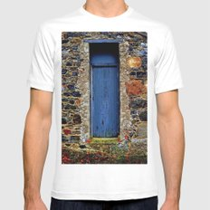 The Blue Door of Ballymascanlon White Mens Fitted Tee MEDIUM