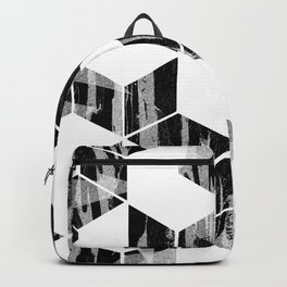 Elegant Black and White Geometric Design Backpack