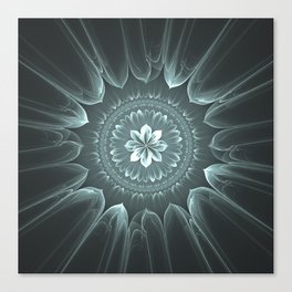 Blossom Within in Platinum Canvas Print