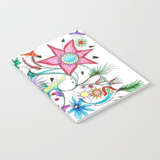 Gipsy garden - hand drawn Notebook