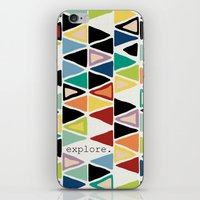 explore iPhone & iPod Skins featuring explore. by Sharon Turner
