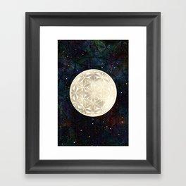 The Flower of Life Moon 2 Framed Art Print